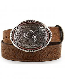 Cody James Men's Bronc Buckle Tooled Leather Belt