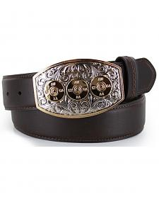Cody James Men's Bullet Buckle Leather Belt
