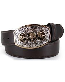 Cody James Men's Bullet Buckle Leather Belt