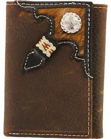Cody James Men's Tri-Fold Hair-On Hide Wallet