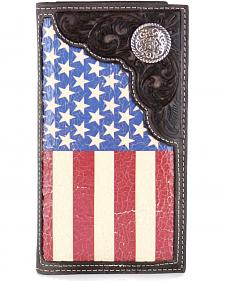 Cody James Men's American Flag Concho Rodeo Wallet
