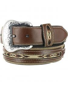 Nocona Men's Rough Out Overlay Western Belt