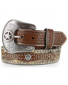 Nocona Men's Hair-on-Hide Star Concho Belt