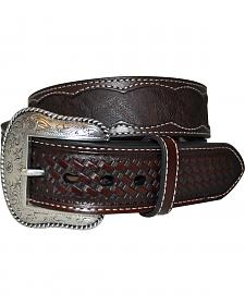 Roper Men's Brown Elephant Print Belt
