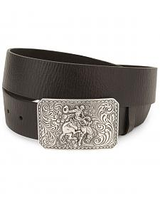 Nocona Bronco Buckle Leather Belt - Reg & Big