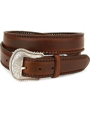 Nocona Concho Laced Leather Belt - Reg & Big