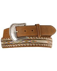 Tony Lama Horsehair Ribbon Leather Belt at Sheplers