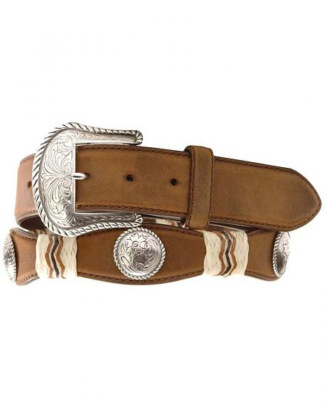 Tony Lama Concho Rawhide Leather Belt - Reg & Big
