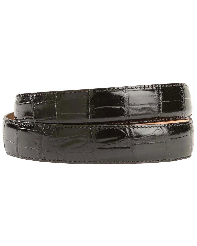 leegin s crocodile print leather belt 19407 ebay