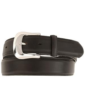Tony Lama Longhorn Leather Dress Belt - Reg & Big