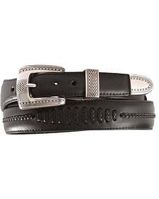 Brighton Onyx Tapered Leather Dress Belt