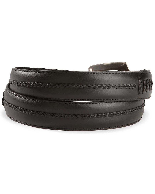leegin s brighton onyx tapered leather dress belt