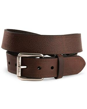 Ariat Triple Stitched Leather Belt - Reg & Big