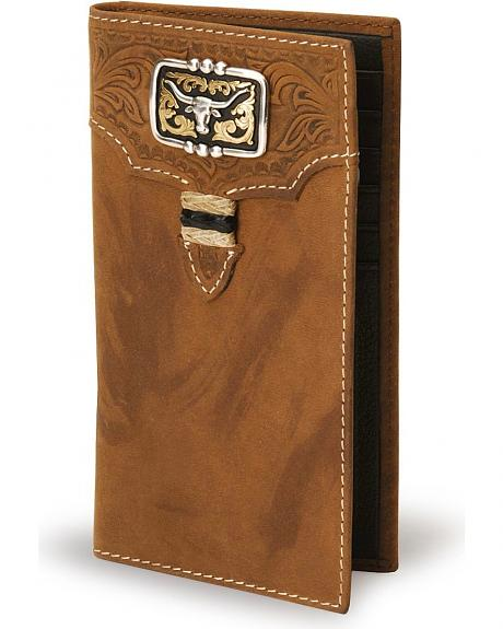 Tony Lama Steerhead Leather Wallet & Checkbook Cover