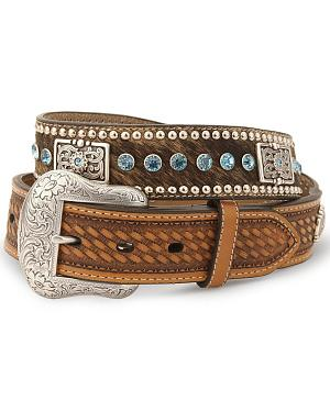 Nocona Calf Hair-On-Hide Leather Belt - Reg & Big