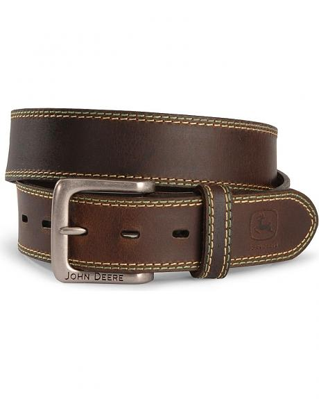 John Deere Leather Belt