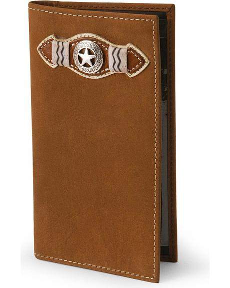 Justin Star Concho Leather Wallet