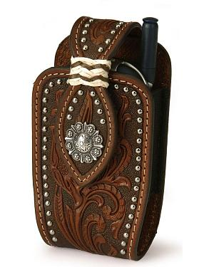 Nocona Tooled Leather PDA Case