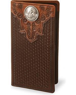 Bull Rider Leather Checkbook Cover