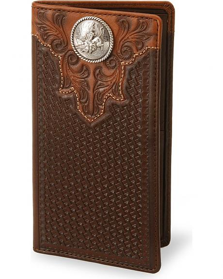 Bull Rider Leather Checkbook Cover