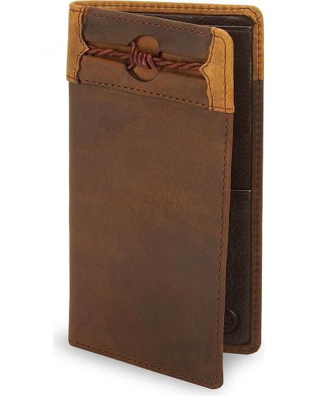 Silver Creek Fenced In Leather Checkbook Cover