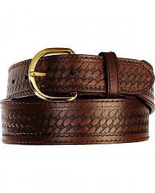 Men's Basketweave Belt - Reg & Big