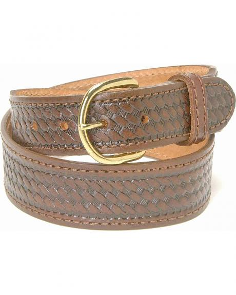 Men's Basketweave Belt - Big