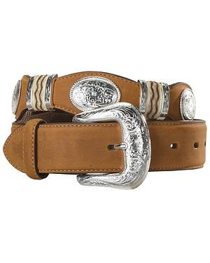 Tony Lama Scalloped Leather Belt