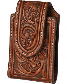 Nocona floral embossed leather Razr case