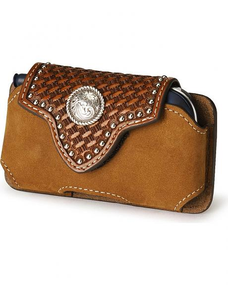 Nocona Tooled Leather Cell Phone Case