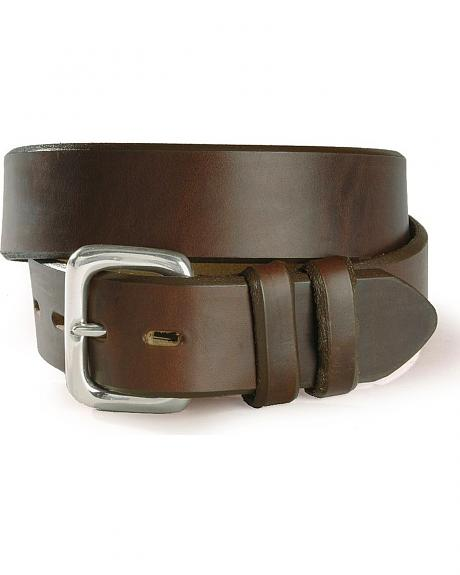 Beveled Edge Basic Leather Belt