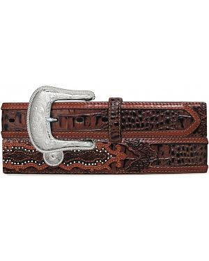 Tony Lama Caiman Print Leather Belt - Reg & Big