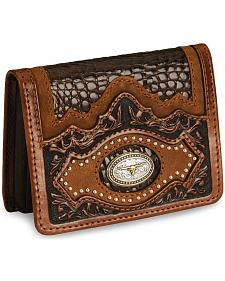 Leegin Longhorn Concho Leather Wallet
