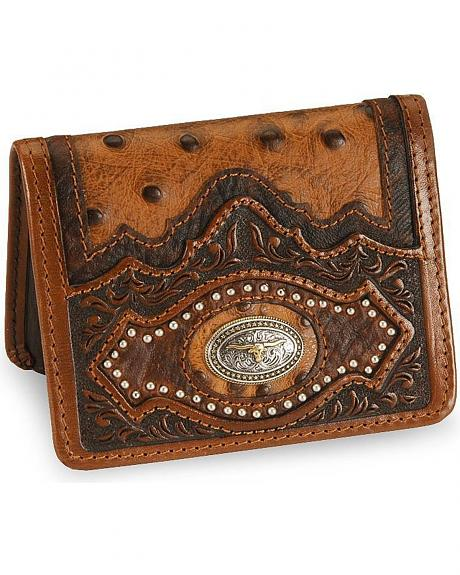 Leegin Longhorn Ostrich Print Leather Wallet