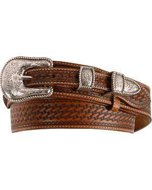 Justin Basketweave Leather Ranger Belt - Reg & Big