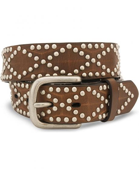 Nocona Studded Leather Belt - Reg & Big