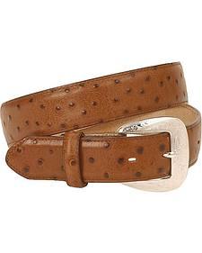 Tony Lama Ostrich Print Leather Belt