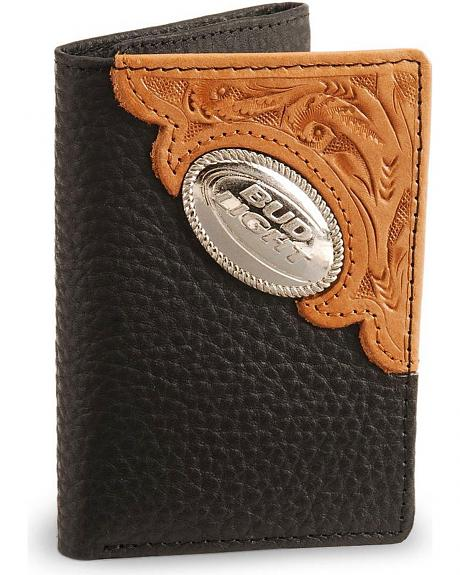 Bud Light Tri-Fold Leather Wallet