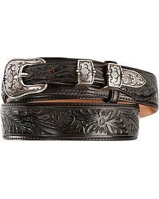 Tony Lama Men's Bandera Tooled Leather Belt