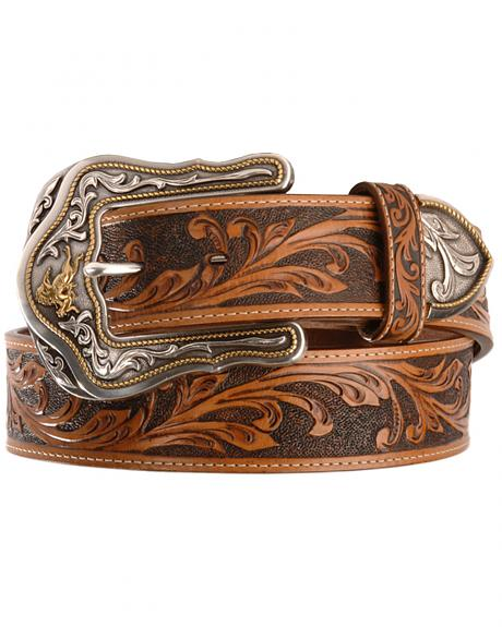 Tony Lama Westerly Ride Leather Belt - Reg & Big