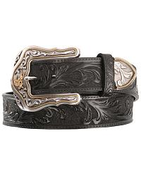 Tony Lama Westerly Ride Leather Belt - Reg & Big at Sheplers