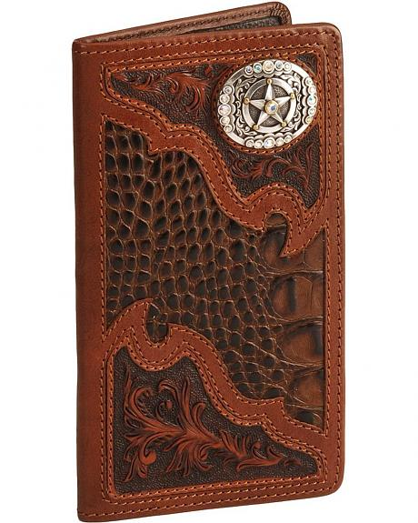 Rodeo Champ Leather Checkbook Wallet