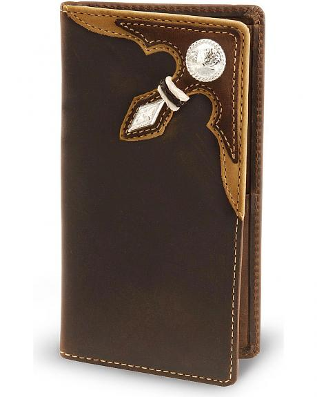 Stockyards Distressed Leather Rodeo Wallet
