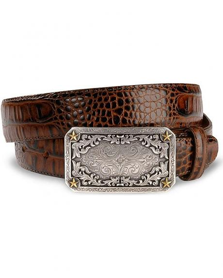 Tony Lama Fort Worth Classic Western Leather Belt - Reg & Big