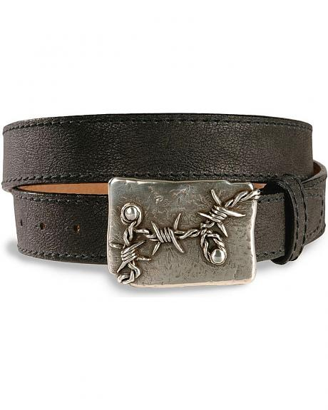 Justin Vintage Barbed Wire Leather Western Belt