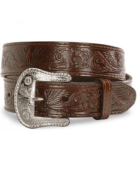 Eagle Embossed Leather Western Belt