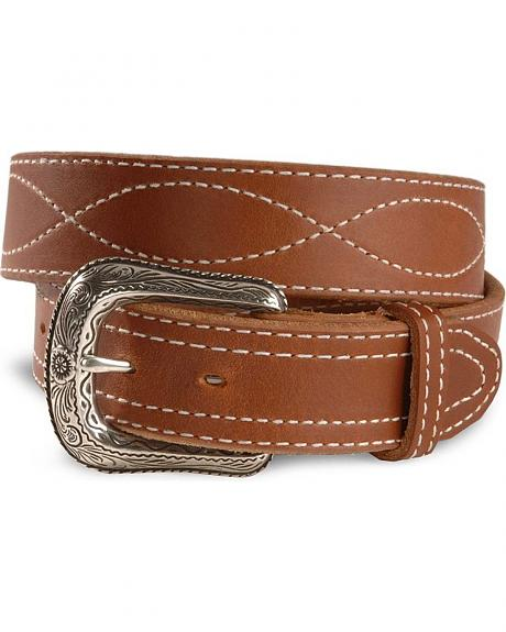 Stitched Casual Leather Belt