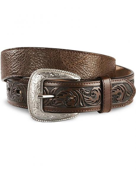 Decorative Laced & Tooled Leather Belt