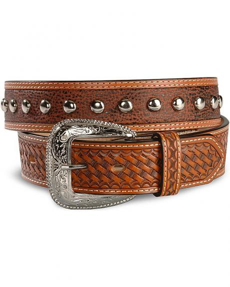 Studded Leather Belt - Reg & Big