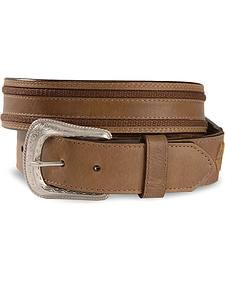 Laced Billet Leather Belt - Reg & Big